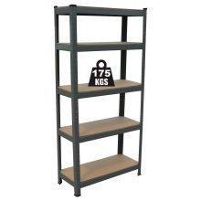 5 Tier Boltless Industrial Racking Garage Shelving Storage Shelf Heavy Duty
