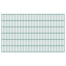 vidaXL 2D Garden Fence Panels 2008x1230 mm 30 m Green