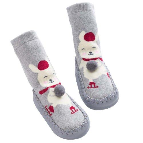 Baby Winter Socks Warm Socks Toddler Shoes Non-slip [Rabbit-1]