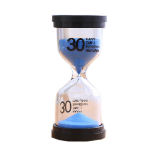 Colorful Sand Timer Hourglass Sandglass Small Ornaments Dropping Ueasily, 30 minutes + Blue