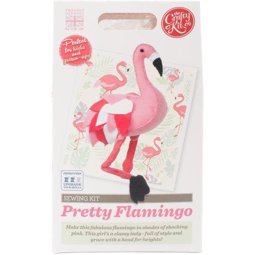 The Crafty Kit Co. Sewing Kit-Flamingo