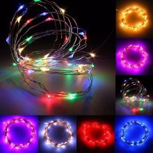 5M 50 LED Copper Wire Fairy String Light Battery Powered Waterproof Xmas Party Decor