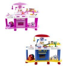 deAO Kitchen Playset with Lights and Sounds Includes Multiple Kitchen Accessories