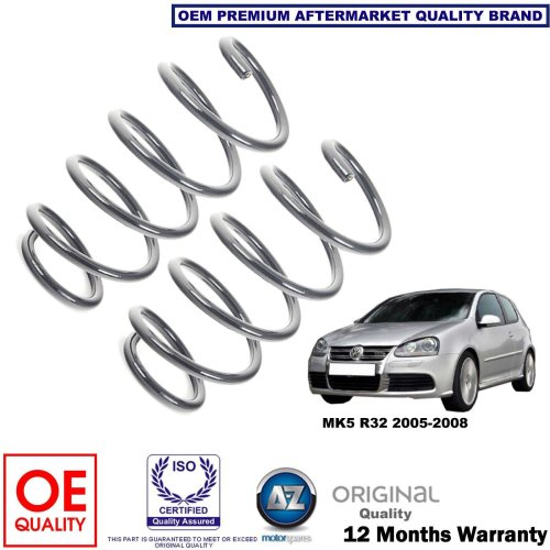 for VW GOLF MK5 R32 2005-2008 X2 FRONT AXLE COIL SPRINGS SET 1K0411105JD NEW OEQ