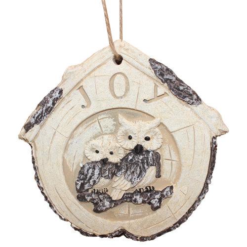 Owl Design Stone Garden Hanging Plaque - Joy