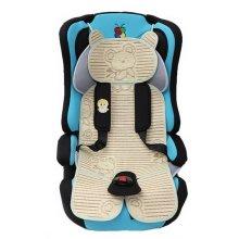 Summer Carts Mats Reusable Stroller Flax Mats Liner for Stroller(Brown Bear)