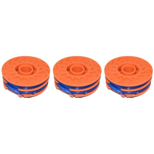 3 x Spool & Line For Worx WG101E Strimmers 5 Metre