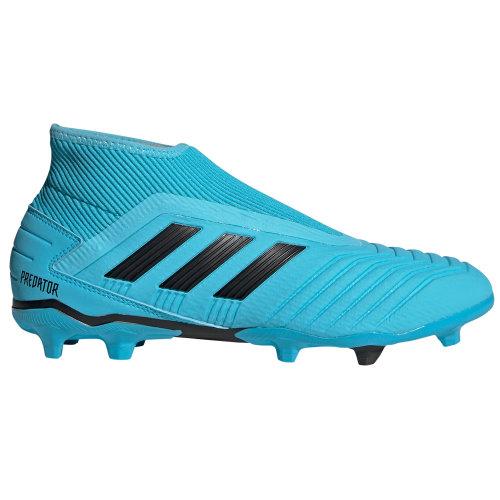 adidas Predator 19.3 FG Firm Ground Mens Laceless Football Boot Shoe Cyan Blue