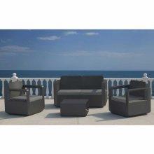 Polyrattan outdoor garden furniture set sofa chairs table VENUS