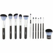LaRoc 12pc Brush Set with Black Leather Bag