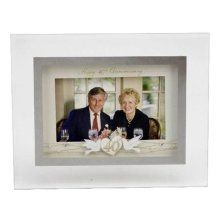 decoupage 3D style 40th Anniversary Photo Frame by Widdop Bingham & co Ltd