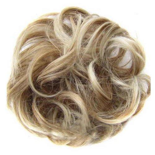 Messy Fake Hair Bun, Curly Fake Hair, Updo Hair, Easy to Wear [A]