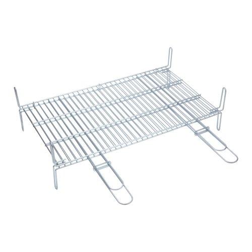 SAUVIC Double Grill Rack 70X40 cm, Steel, 70x64x20 cm