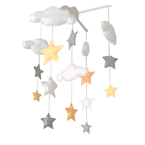 DIY Nursery-Mobiles For Crib Decorations Toy,  Need Sewing, Yellow