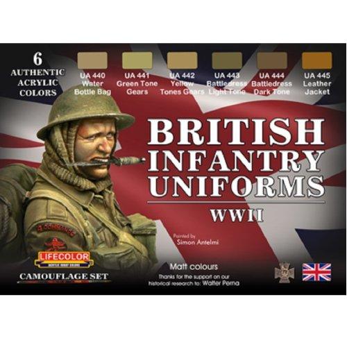 LifeColor British Uniforms WWII Set (22ml x 6)