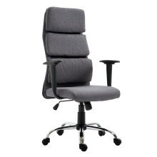 HOMCOM Executive Office Chair, Linen-Grey