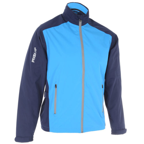 ProQuip Golf Mens Aquastorm PX1 Waterproof Rain Jacket Full Zip Navy/Blue Medium