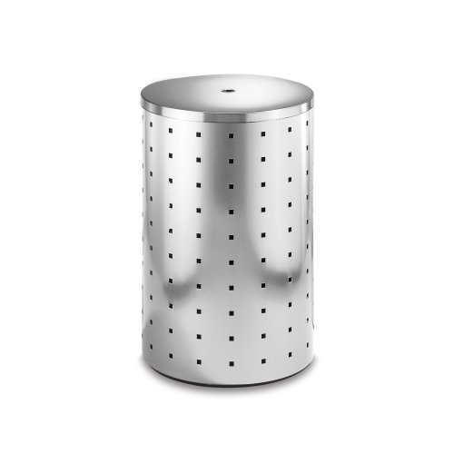 Zack Quadro 53 L Laundry Bin - Brushed Stainless Steel