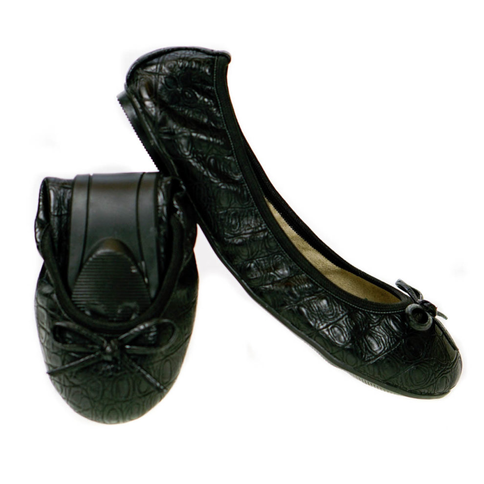 b5e700a7f Butterfly Twists Foldable Ladies Flat Shoes Black on OnBuy
