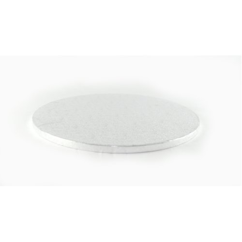 "11"" Silver Round Cake Drum Board 12mm Thick"