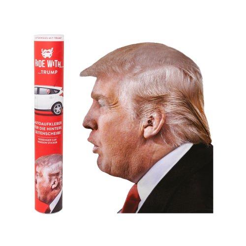 Car window sticker with Donald Trump (head only),30.5 x 30x 0.1cm