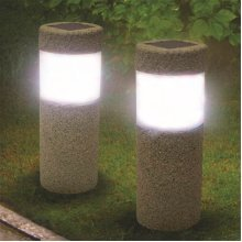 Waterproof Solar Power Stone Pillar LED Lights