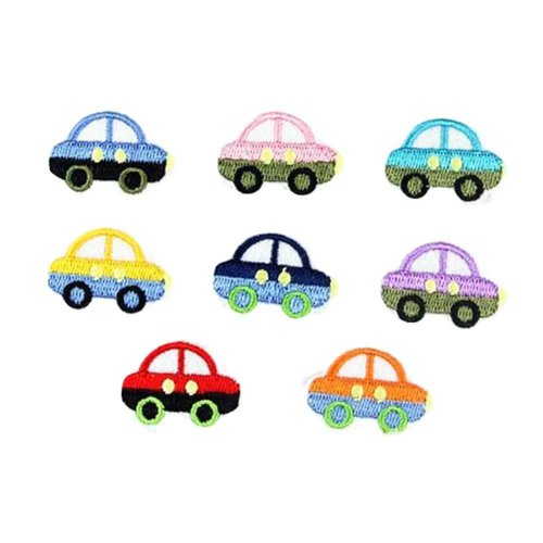16 Pcs Cars Sew on Patches Cloth Appliques Patches Embroidery Appliques Random