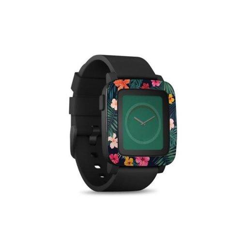DecalGirl PSWT-TROPHIB Pebble Time Smart Watch Skin - Tropical Hibiscus