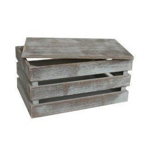 Medium Vintage Slatted Wooden Box