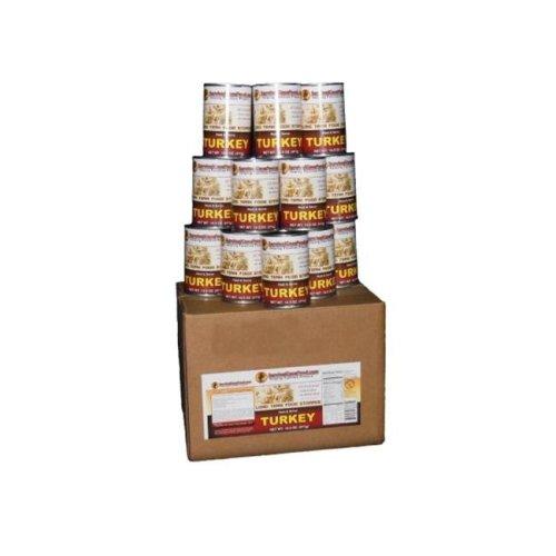 SurvivalCaveFood SCFMTKY Canned Turkey 14.5 oz - 12 cans