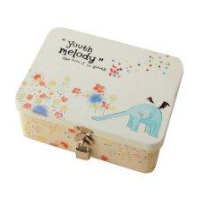 Cute Safe Lock Box Desktop Cosmetics Box-S/Elephant