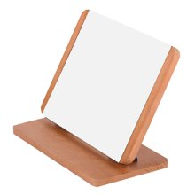 Home Decor Wooden Mirror Single-sided Vanity Mirror Tabletop Makeup Mirror Foldable 25.8x13x18.5CM