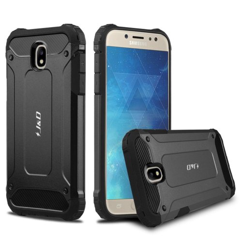 official photos 8bbc4 790ea J&D Galaxy J7 2017 Case, [ArmorBox] [Dual Layer] Hybrid Shock Proof  Protective Rugged Case for Samsung Galaxy J7 (Release in 2017) (Black)