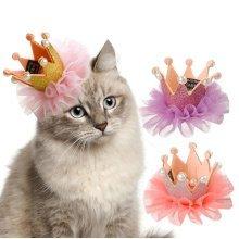 Princess Crown Pet Puppy dog Cat Hairpin Hair Bows
