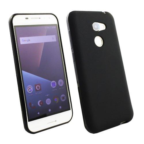 reputable site 267a4 e03d2 Emartbuy Vodafone Smart N8 Matt Gel Skin Case Cover Black