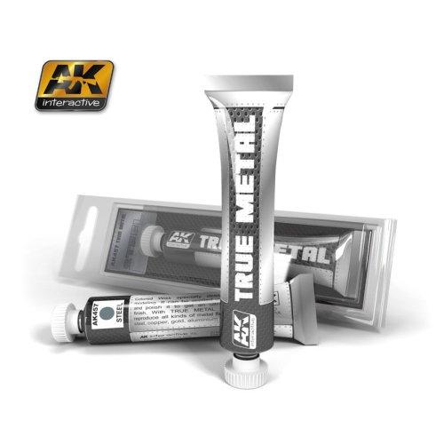 AK Interactive - True Metal Paints - Steel