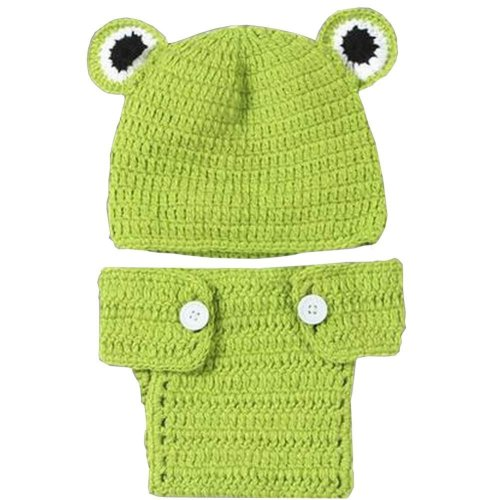 Newborn Baby Photography Props Knitted Handmade Clothing [Frog]