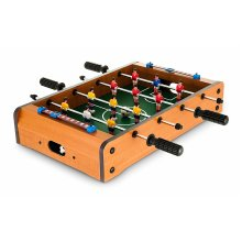 GLOW Table Top Football Game - Large Desktop Quality Wooden Sport Board Foosball Game with Solid Wood Frame Pitch, Easy Glide Player Bars, 6 x Players on Each Team, 2 x Scoreboards and 2 x Soccer Ball - Classic Lightweight and Portable Novelty Retro