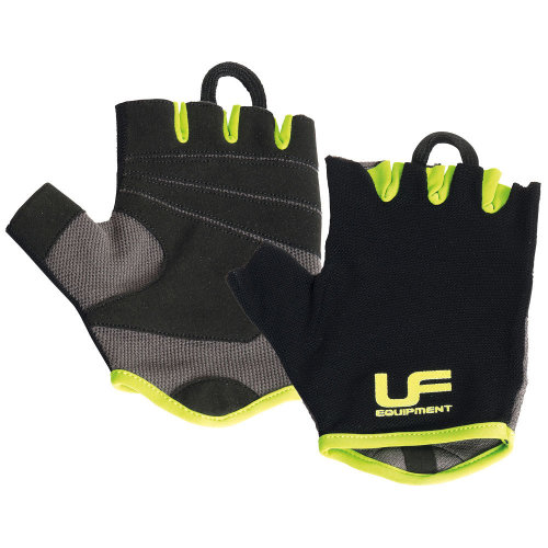 UFE Fitness Mens Weight Training Gym Exercise Gloves Black/Green