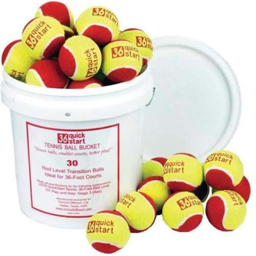 Olympia Sports BL415P Quick Start 36 Tennis Balls - Bucket or 30 Balls