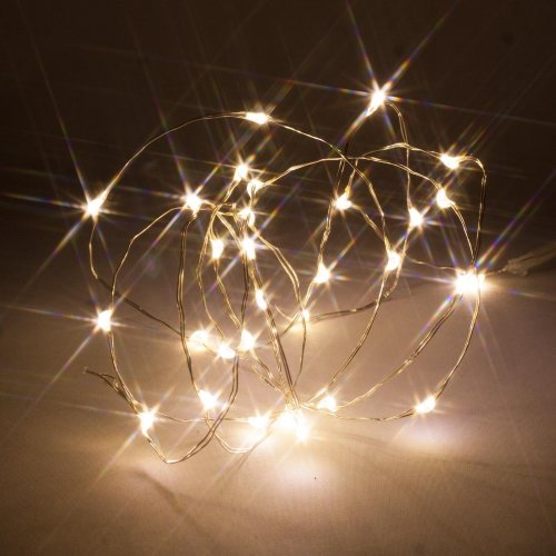 Battery Operated Fairy Lights Micro Warm White Leds Wire With Timer Mode By Qbis â 30 Led On