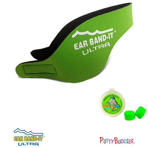Ear Band-It ULTRA Green Head Band for Swimming