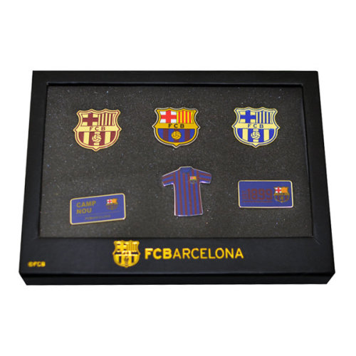 F.c. Barcelona 6 Piece Badge Set Official Merchandise - Football New Gift Fc -  official 6 piece badge set football new gift fc barcelona team