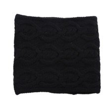 Premium Winter Warm Knit Scarf Infinity Knitted Scarves Neck Scarfs Wrap, Black