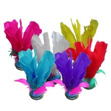 10 Pcs Exercise And Fitness Feather Kick Shuttlecock Chinese Jianzi Random Color