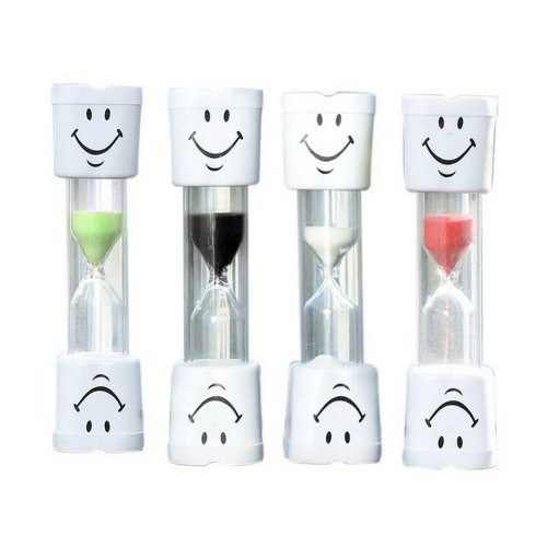 Children Brushing Smiling Face Sand Timer Four Choose One 3 Minutes Random  Color