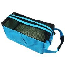 Square Bath Accessories Tote Sport Swimming Mesh Shower Bag-Blue