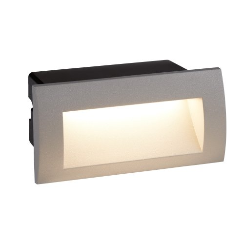 LED Indoor & Outdoor Recessed Rectangle Light In Grey