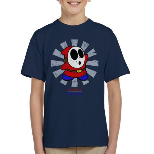 Shy Guy Retro Japanese Mario Kid's T-Shirt