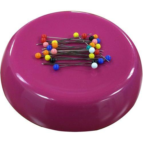 Grabbit Magnetic Pincushion W/50 Pins-Raspberry